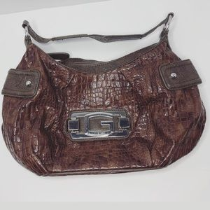 Guess Purse Satchel Croc Embossed G by Gue…